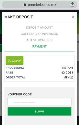 Quick and Easy – Premierbet Voucher deposit and withdrawal